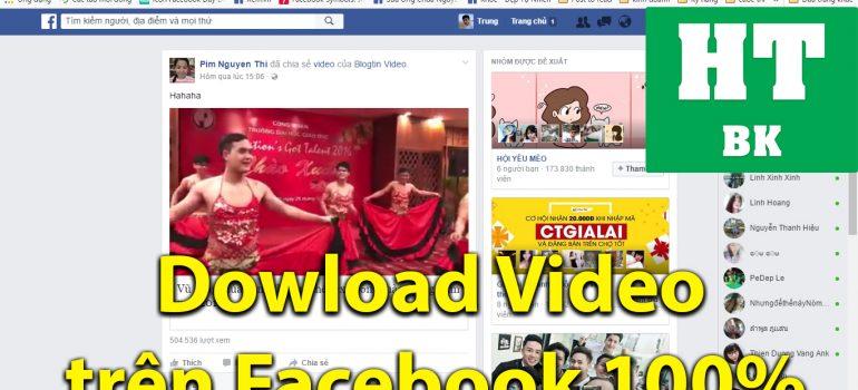 dowload video tren facebook