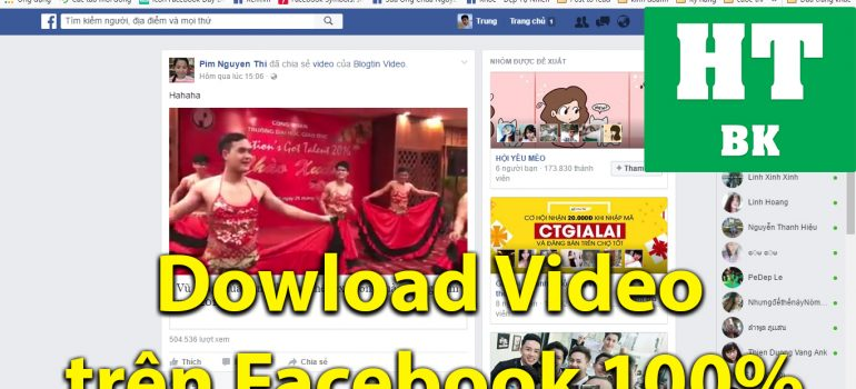 dowload video tren facebook