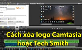 Các xóa logo Camtasia hoặc Tech Smith