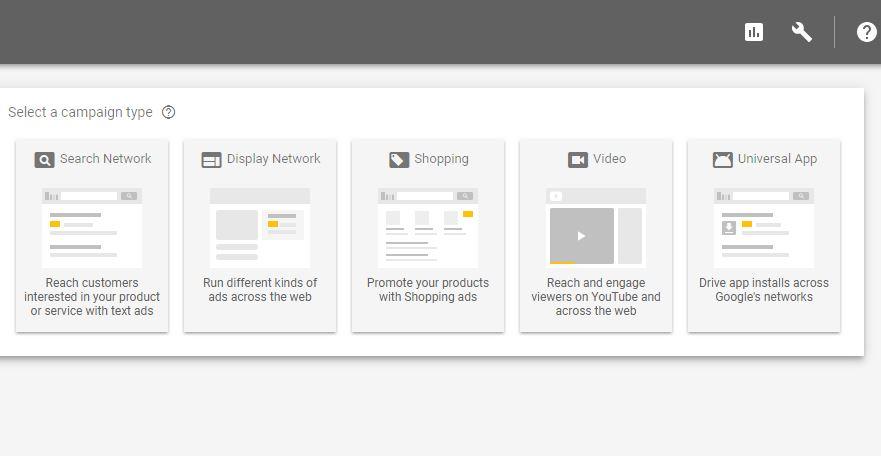 Các loại chiến dịch google adwords