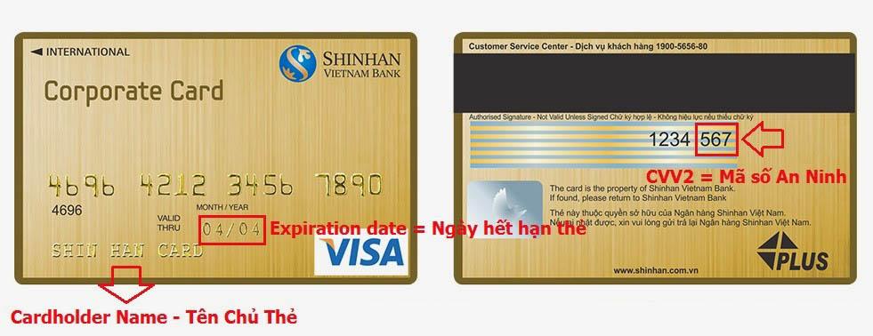 Cách sử dụng thẻ tín dụng visa